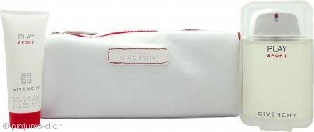 Givenchy Play Sport Confezione Regalo 100ml EDT + 75ml Bagnoschiuma & Shampoo + Borsa da Bagno