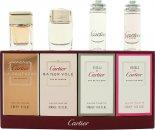 Cartier Miniatures Confezione Regalo 6ml Eau de Cartier Goutte de Rose EDT + 5ml Eau de Cartier EDT + 5ml Cartier Baiser Vole EDP + 6ml Cartier La Panthere EDP
