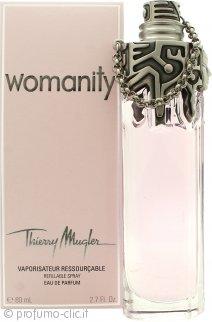 Thierry Mugler Womanity Eau de Parfum 80ml Spray Ricaricabile