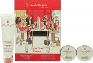 Elizabeth Arden Eight Hour Cream Confezione Regalo 50ml Balsamo Protettivo Pelle + 2 x 14ml Protettivo per Labbra