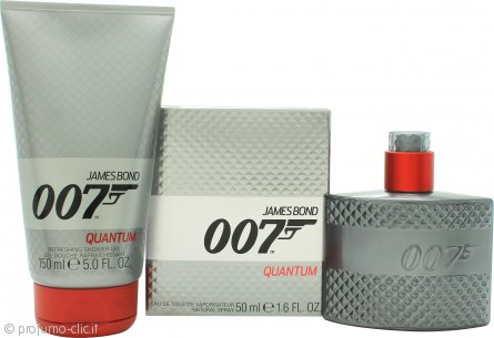 James Bond 007 Quantum Confezione Regalo 50ml EDT + 150ml Gel Doccia