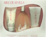 Instituto Español Aire de Sevilla Confezione Regalo 150ml EDT Spray + 150ml Gel Esfoliante + 150ml Crema Corpo