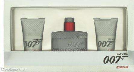 James Bond 007 Quantum Confezione Regalo 50ml EDT + 2 x 50ml Gel Doccia