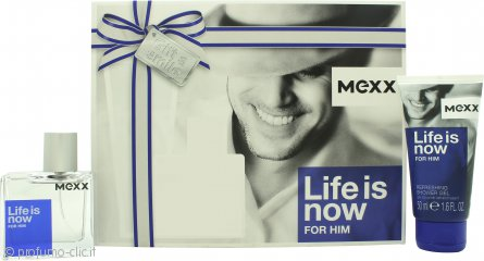 Mexx Life Is Now for Him Confezione Regalo 30ml EDT + 50ml Gel Doccia