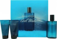 Davidoff Cool Water Confezione Regalo 75ml Dopobarba + 50ml Gel Doccia + 50ml Balsamo Dopobarba