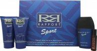 Dana Rapport Sport Confezione Regalo 100ml EDT + 150ml Balsamo Dopobarba + 150ml Gel Doccia + 20ml Rapport EDT