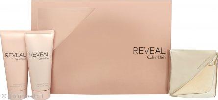 Calvin Klein Reveal Confezione Regalo 100ml EDP Spray + 100ml Lozione Corpo + 100ml Gel Doccia