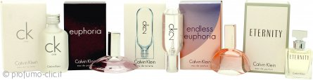 Calvin Klein Women Miniature Confezione Regalo 10ml CK1 EDT + 4ml Euphoria EDP + 10ml CK2 EDT + 5ml Endless Euphoria EDP + 5ml Eternity EDP