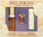Elizabeth Taylor White Diamonds Confezione Regalo 30ml EDT + 3.7ml Parfum +  28g Talco Corpo Satinato