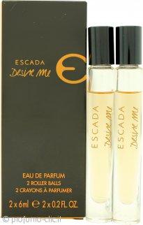 Escada Desire Me Confezione Regalo 2 x 6ml EDP Roll On