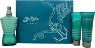 Jean Paul Gaultier Le Male Confezione Regalo 125ml EDT + 75ml Gel Doccia + 75ml Balsamo Dopobarba