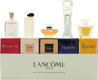 Lancome The Best of Fragrances Miniatures Confezione Regalo 5ml Hypnose EDP + 5ml Miracle EDP + 4ml Poeme EDP + 7.5ml Tresor EDP + 5ml Tresor in Love EDP