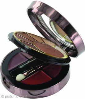 SUNkissed Cosmetics Radiance Compact - Polvere Abbronzante + Ombretti + 4 Rossetti + 1 Mini Pennello per Fard + 1 Applicatore Occhi/Labbra