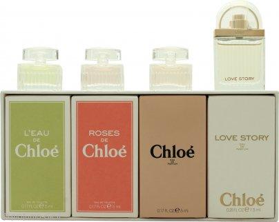 Chloé Miniatures Confezione Regalo 5ml L'eau de Chloé  EDT + 5ml Roses De Chloé  EDT + 5ml Chloé  EDP + 7.5ml Love Story EDP