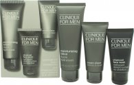 Clinique For Men Confezione Regalo 100ml Lozione Idratante + 60ml Crema Da Barba + 50ml Charcoal Sapone Viso