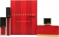 Fendi L'Acquarossa Confezione Regalo 50ml EDP + Lucidalabbra Rosso + Smalto Rosso
