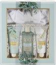 Style & Grace Spa Botanique Calming Collection Confezione Regalo 200ml Sapone Mani + 70ml Lozione Corpo + 70ml Scrub Corpo + Fascia Capelli