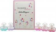 Salvatore Ferragamo Incanto Miniature Confezione Regalo 5 x 5ml EDT (Dream + Charms + Heaven + Shine + Bloom)