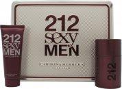 Carolina Herrera 212 Sexy  Uomo Confezione Regalo 50ml EDT + 75ml Balsamo Dopobarba