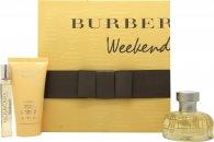 Burberry Weekend Confezione Regalo 50ml EDP + 50ml Lozione per il Corpo + 7.5ml EDP