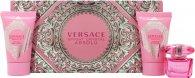 Versace Bright Crystal Absolu Confezione Regalo 5ml EDP + 25ml Lozione Corpo + 25ml Gel Doccia