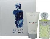 Rochas Eau de Rochas Confezione Regalo 100ml EDT Spray + 150ml Lozione Corpo