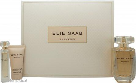 Elie Saab Le Parfum Confezione Regalo 90ml EDT + 30ml Lozione per il Corpo + 10ml EDT